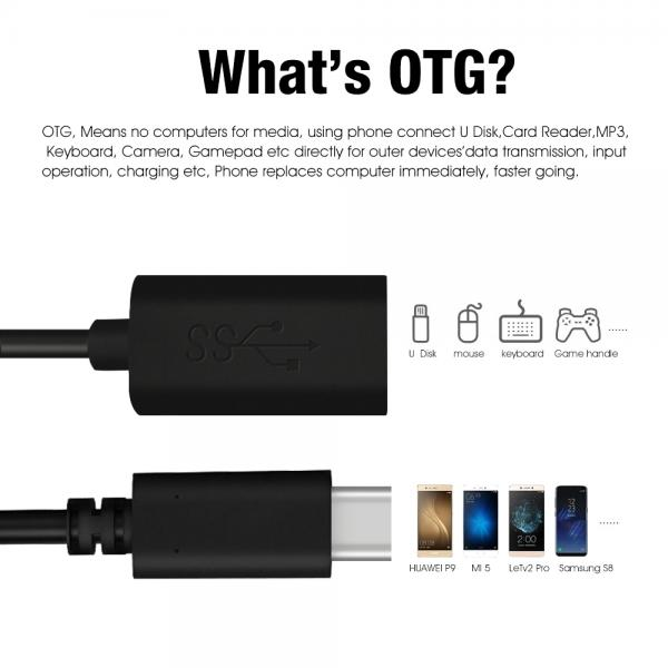 Picture of Type-C to USB3.0A/F PVC(black)